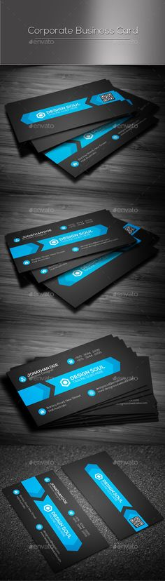 Corporate Business Card Template #design Download: http://graphicriver.net/item/corporate-business-card/13004400?ref=ksioks