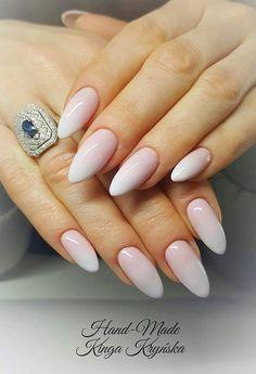 French Pink & Sugar Effect by Kinga Kryńska Indigo Young Team #nails #nail…