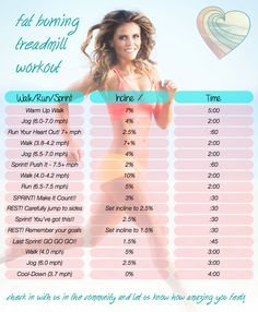 Fat burning treadmill workout from Tone It Up!