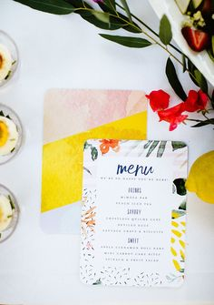 Throw a Tropical Bridal Shower with these Free Printable Invites ⋆ Ruffled Wedding Menu Cards, Wedding Stationery, Wedding Invitations, Wedding Destination, Boho Wedding, Lesbian Wedding, Wedding Vintage, Spring Wedding, Wedding Blog