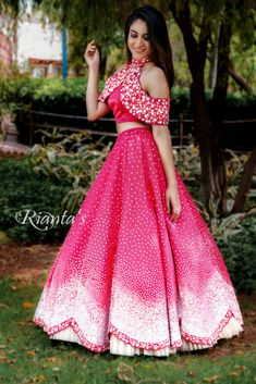 cape style crop top and skirt Designer Party Wear Dresses, Indian Designer Outfits, Stylish Dresses, Fashion Dresses, Trendy Outfits, Indian Gowns Dresses, Pink Gowns, Lehnga Dress, Lehenga Choli