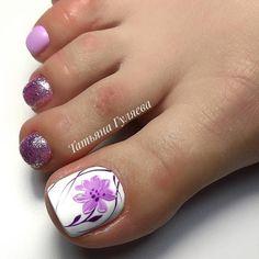 Pretty Pedicures, Pretty Toe Nails, Cute Toe Nails, Pedicure Designs, Pedicure Nail Art, Toe Nail Designs, Acrylic Toe Nails, Toe Nail Art, Square Gel Nails