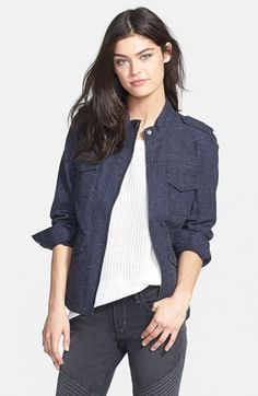 Hinge  Tweed Cotton Jacket available at #Nordstrom