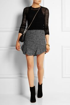 Isabel Marant | Drye wool-blend bouclé mini skirt | NET-A-PORTER.COM