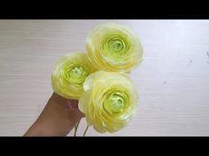 DIY- Paper Camellia flower from crepe paper - papel Camellia de papel crepé- Hoa Trà My giấy nhún - YouTube