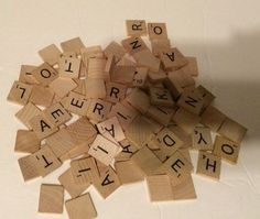 100 Wooden Scrabble Tiles-jewelry Making-scrap booking  #Scrabble