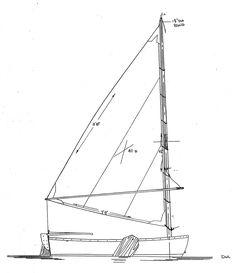 SandpiperSide.jpg (1035×1200)    Sandpiper stem dinghy by Devlin Boats