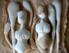 Cloth dolls in progress by The Pale Rook