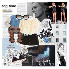 """my number is no - tag time"" by h0ld-0n-let-g0 ❤ liked on Polyvore featuring Piet Hein Eek, Chanel, AG Adriano Goldschmied, Billabong, H&M, Prada, Assouline Publishing, Monki, Brinkhaus and bathroom"