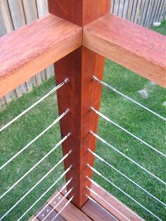 balustrading with stainless steel cable.