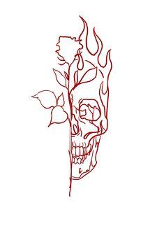 Skull Tattoo Design, Tattoo Design Drawings, Skull Tattoos, Tattoo Designs, Tattoo Outline Drawing, Outline Drawings, Art Drawings, Esoteric Tattoo, Esoteric Art