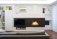 fireplace beside tv design ideas - Google Search