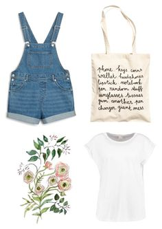"""dungarees"" by franciscaantunes on Polyvore featuring Monki"