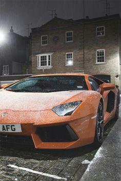 Snow Lamborghini
