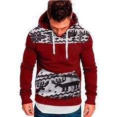 7372d6981 ISHOWTIENDA Mens Hoodies 2018 Christmas Large Size Sweatshirts Pullover  Casual Winter Men Clothes Sudaderas Para Hombre
