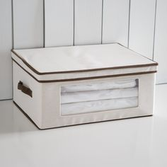 Honey Can Do Natural Canvas Tall Window Storage Chest - Storage Bags & Boxes at Hayneedle