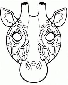 Giraffe mask template | Giraffe crafts, Giraffes cant ...