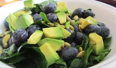 Citrusy Kale Salad with Blueberries
