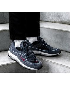 sale retailer 9fa1a dc18d Men s Nike Air Max 98 QS Thunder Blue Team Red-Diffused Blue Trainer,The new  nike air max 98 is too practical, too beautiful!