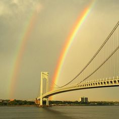 Double #rainbow over the #verrazanobridge #verrazzano #Brooklyn photo by Nick AnnunziataOriginal photos posted by The Art of Bklyn Film Festival aobff.org