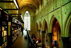 dominicans' cathedral in netherlands converted in bookstore.