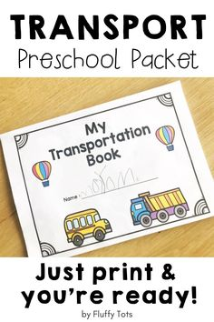 Save your time planning activities with this no-prep and fun Transportation  Preschool pack! Just print the printables and you are so ready to go!  Transportation in this pack includes those on-air, on the land, and in the sea and water.  There are find the odd ones, match the shapes on the train and ship, count and compare the cars, sort by colors, and more!  Perfect for lesson plans, circle time, and morning tubs. Preschool Activities At Home, Indoor Activities For Toddlers, Preschool Centers, Motor Skills Activities, Kindergarten Fun, Preschool Printables, Transportation Theme Preschool, Book Names, Learning Letters