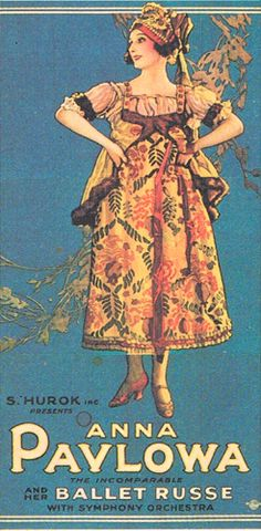Anna Pavlova poster. I think she is wearing her costume for Petite Danse Russe.
