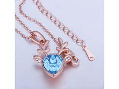 18k Rose Gold Plated Deer #Necklace