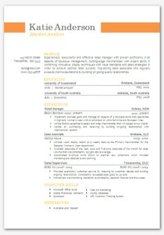 Lime Modern Microsoft Word Resume Template Resume By Inkpower