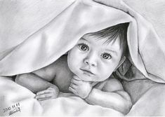 """""""Baby"""" – Bleistiftzeichnung von BannanaPower, via deviantART – Brenda Lakso – Join the world of pin Pencil Portrait Drawing, Pencil Sketch Drawing, Portrait Sketches, Pencil Art Drawings, Art Drawings Sketches, Portrait Art, Pencil Shading, Pencil Sketch Images, Amazing Drawings"""