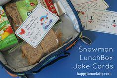 Snowman Lunchbox Jokes - FREE Printable!
