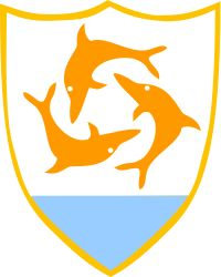 COA of the Anguilla, is a British overseas territory in the Caribbean. It is one of the most northerly of the Leeward Islands in the Lesser Antilles, lying east of Puerto Rico and the Virgin Islands and directly north of Saint Martin. The territory consists of the main island of Anguilla itself, 26 km long by 5 km wide at its widest point, together with a number of much smaller islands and cays with no permanent population. The island's capital is The Valley.