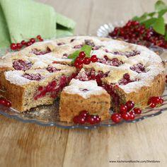 Vollkorn-Ribiselkuchen mit Walnüssen und Rohrzucker Healthy Desserts, Banana Bread, French Toast, Muffin, Low Carb, Pie, Sweets, Breakfast, Easy