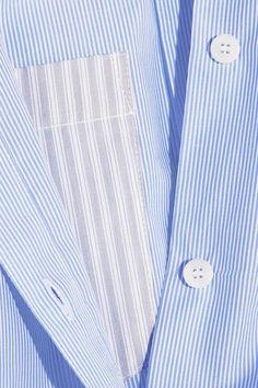 MM6 Maison Margiela - Striped Cotton-poplin Shirt - Sky blue - IT38