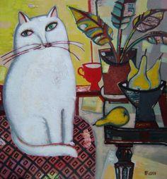 "Tatiana Gorshunova - ""White cat yellow pears"", 2006"