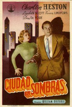 197.  Ciudad en sombras. Dirigida por William Dieterle. Valencia: Gráficas Valencia, [1950]. #ProgramasdeMano #BbtkULL #CineNegro #DiadelLibro2014