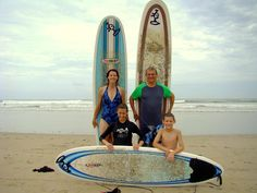 Family Surf Camp coming to #Nosara at #TierraMagnfica this July. Proving that the family that surfs together, hangs loose together!