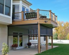 Great Idea For Patio Under Your Deck   Put In Retractable Screens For A  Porch That Keeps Those Pesky Mosquitoes Out.