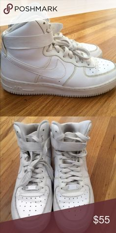 quality design 699af abbc8 High Top Air Force Ones gently worn high too af ones. can easily be cleaned  · Air Force OnesNike SkorSkor Sneakers