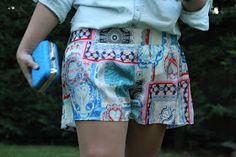 Blog costura y diy: Oh, Mother Mine DIY!!: DIY Ropa: Shorts estampados para el verano.