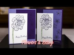 Flowers & Bling Card - Giggles Creative Corner