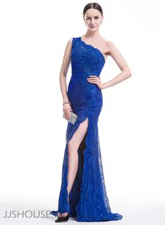 Make a statement and own the room in this ravishing lace gown! #JJsHouse #Party #Evening #Prom