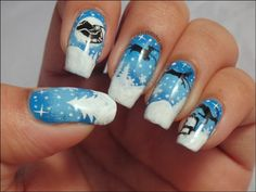"""Crazy Polishes: Christmas Manicure - Guest post at """"The-Crumpets"""""""