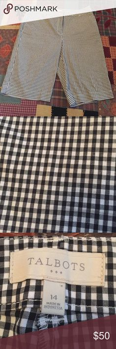 Cute Check Pattern Shorts NWOT Long Shorts- super cute and will complete any outfit! Talbots Shorts Bermudas