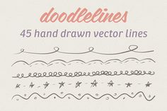 45 Hand Drawn Vector Lines by Jamie Pickering on @creativemarket