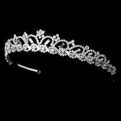 * Silver Plated Bridal Tiara HP 6248