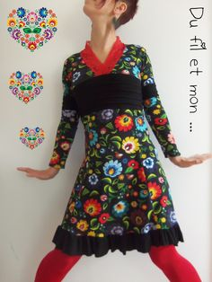 Du fil et mon. Diy Clothes, Chic Outfits, Rock, Boho Chic, Sewing Patterns, Creations, Dresses With Sleeves, Long Sleeve, Ideas