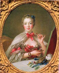 Madame de Pompadour at her Toilette by Francois Boucher, 1758