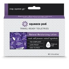 Squeeze Pod Single Use Natural Moisturizing Lotion