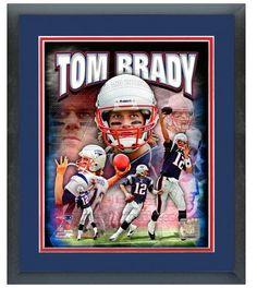 "11"" x 14"" Framed & Matted Tom Brady New England Patriots-""Portrait Pluses Photo"""